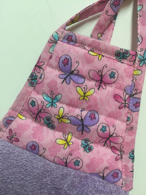Butterfly Tea Towel   Butterfly Kitchen Towel   Dish Towel  Pink Butterfly  Towelu2026