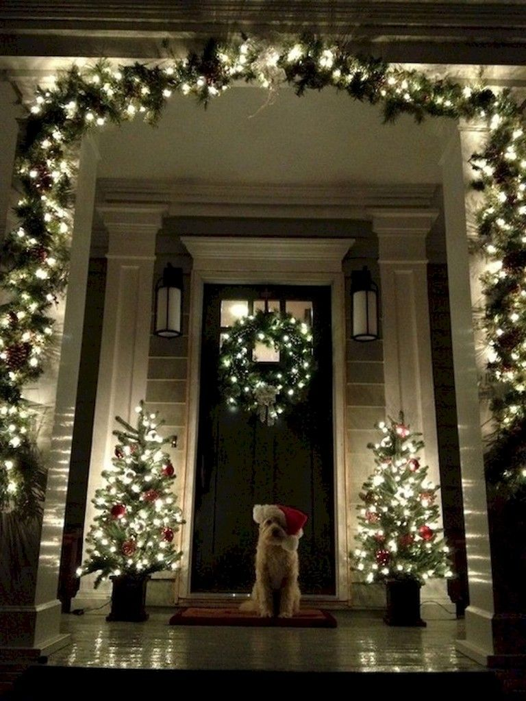42+ Stunning Outdoor Christmas Decoration Ideas #christmasdecor