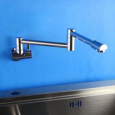 moderna flessibile finitura cromata in ottone Un foro singola maniglia rubinetto della cucina
