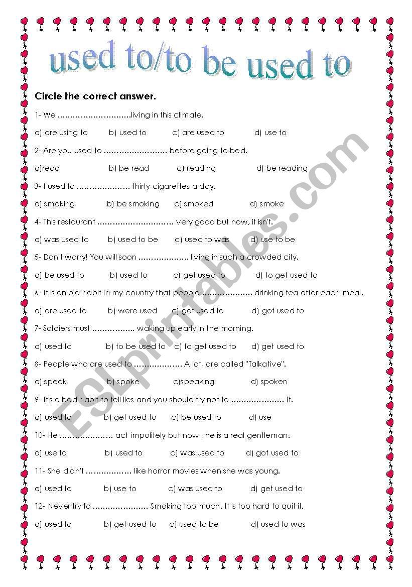 This multiple choice worksheet can be used as a post-lesson