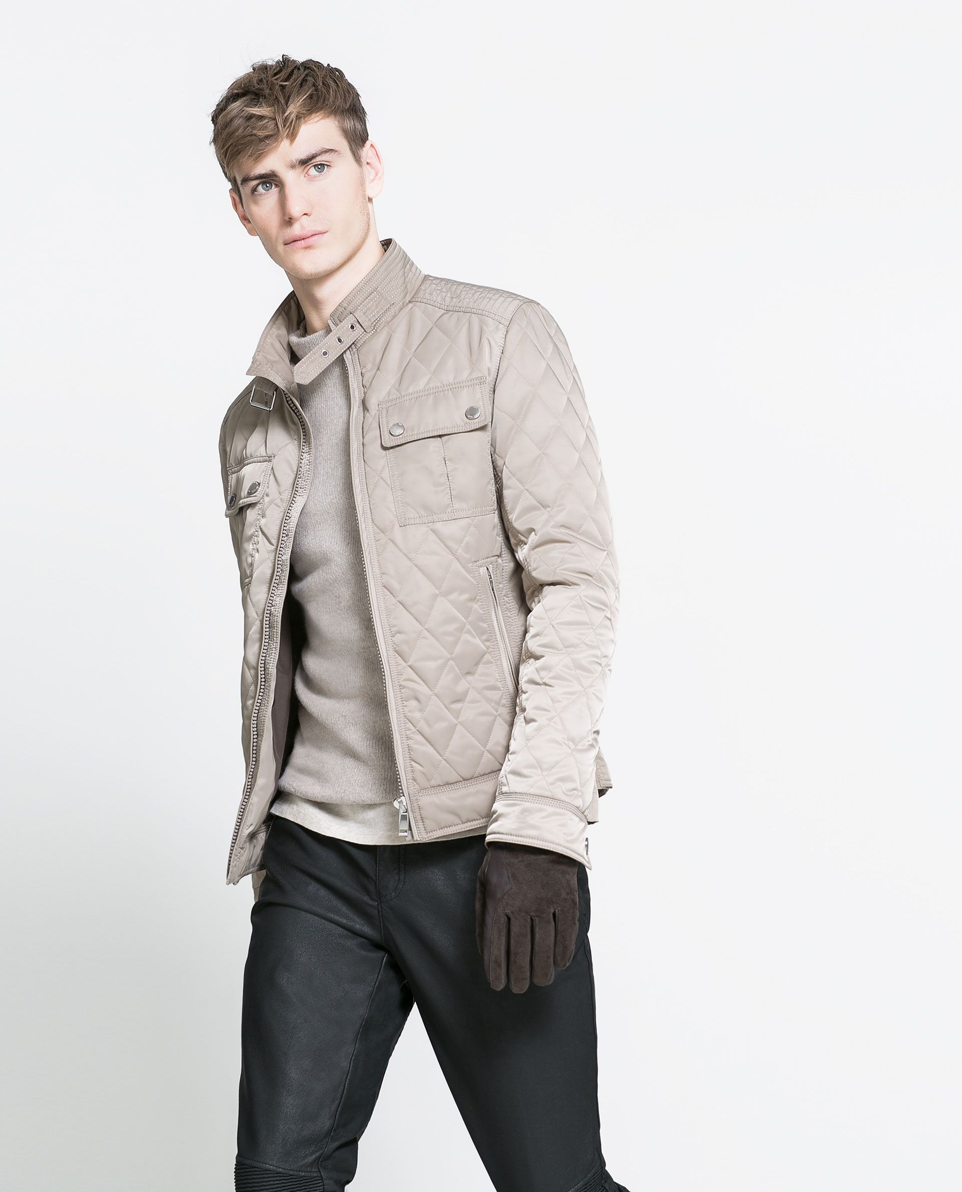 QUILTED JACKET Mens jackets casual, Casual wear for men
