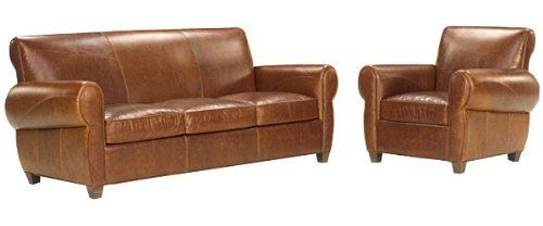 Tribeca Designer Style Rustic Leather Furniture Sleeper