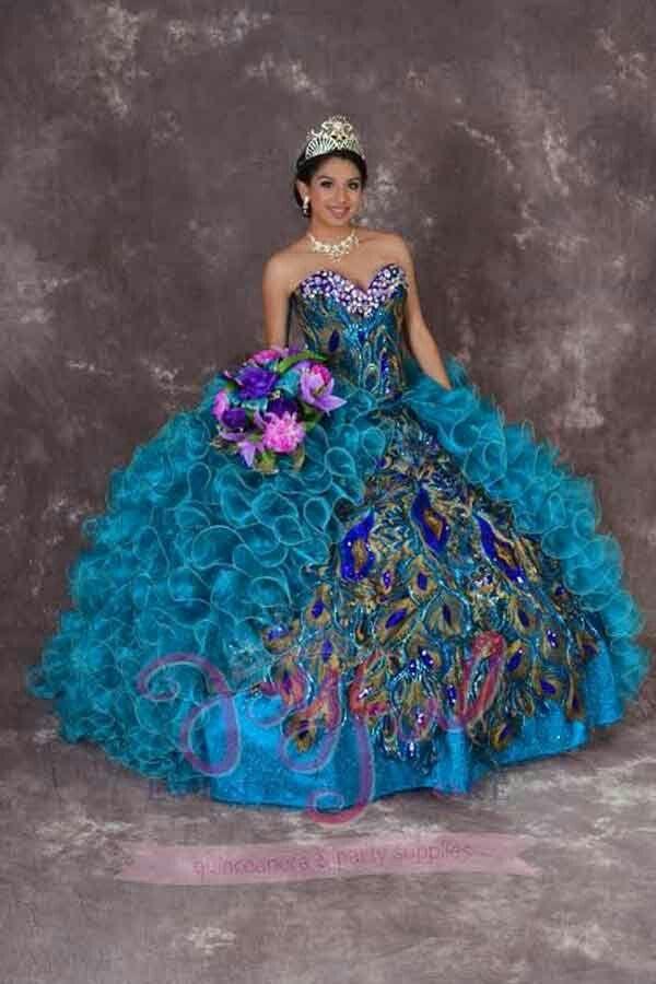 Vestidos de novia con cola de pavo real