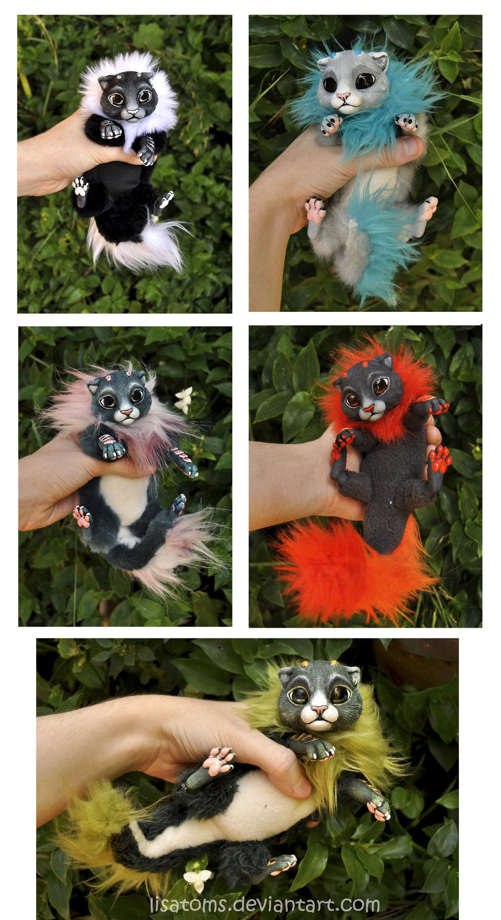 Litter of baby dragon spirits- more photos by ~LisaToms on deviantART