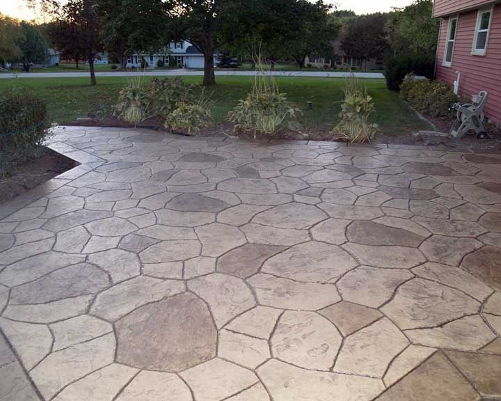 Can Baking Soda And Vinegar Unclog A Toilet? Colored Concrete PatioConcrete  Patio DesignsStamped ...