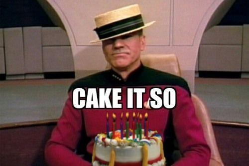 My Birthday Thanks Captain Startrek Scifi Geek