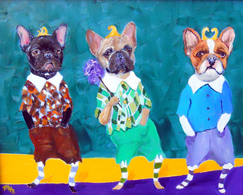 french bulldog art print of an original oil painting lollipop