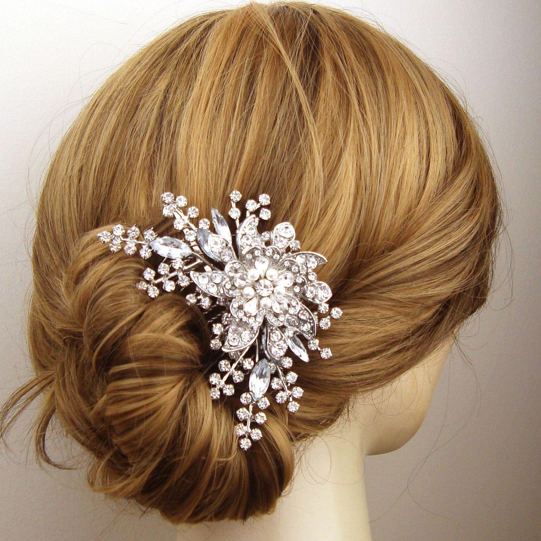 Victorian Style Wedding Hair: Victorian Style Wedding Hair Comb, Pearl & Crystal Bridal