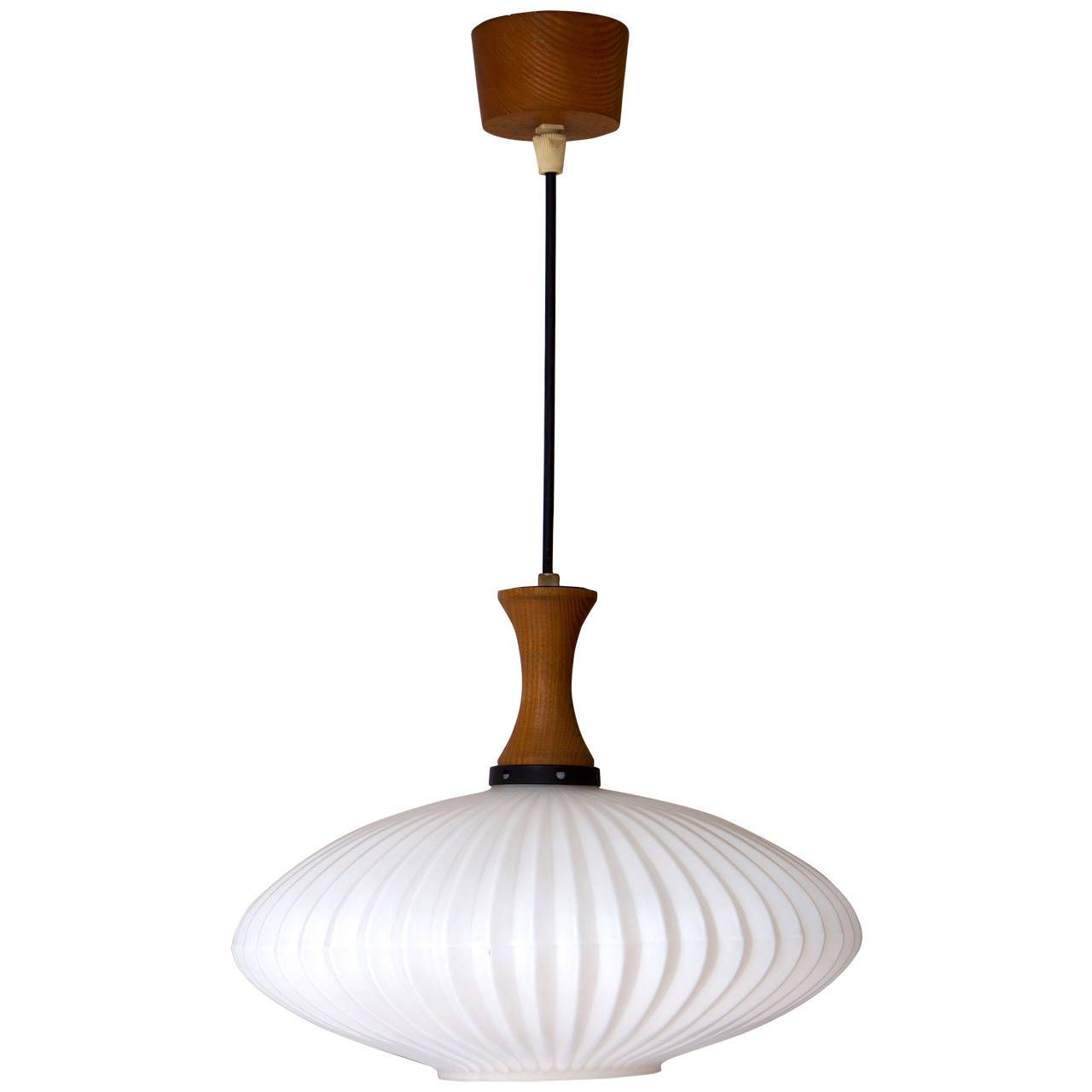 mid century pendant lighting. Mid-Century Danish Glass And Wood Chandelier - Pendant Light Mid Century Lighting H