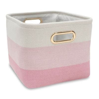 Lambs Ivy Ombre Storage Basket In Pink Gold