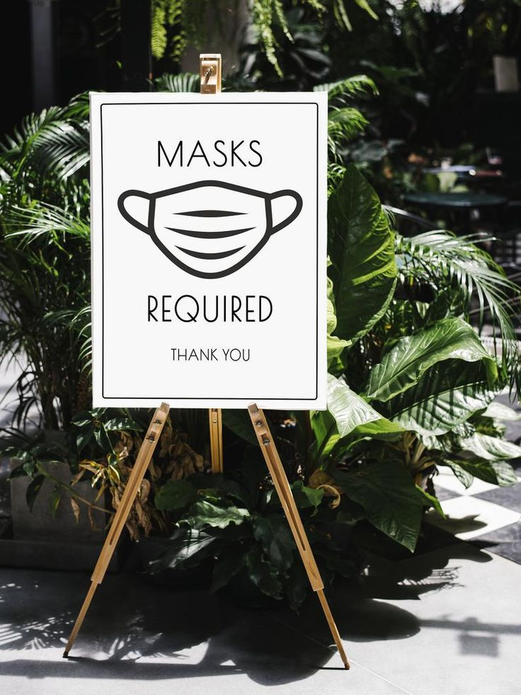Masks Required Sign Digital Printable Face Mask Window