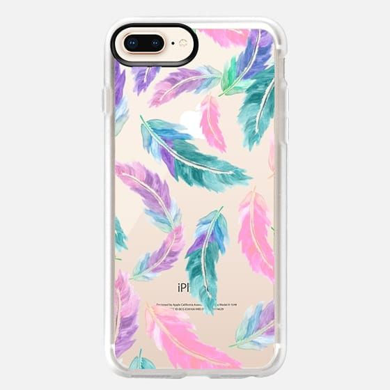 Boho Feather Pattern Watercolor Rainbow iPhone 11 case