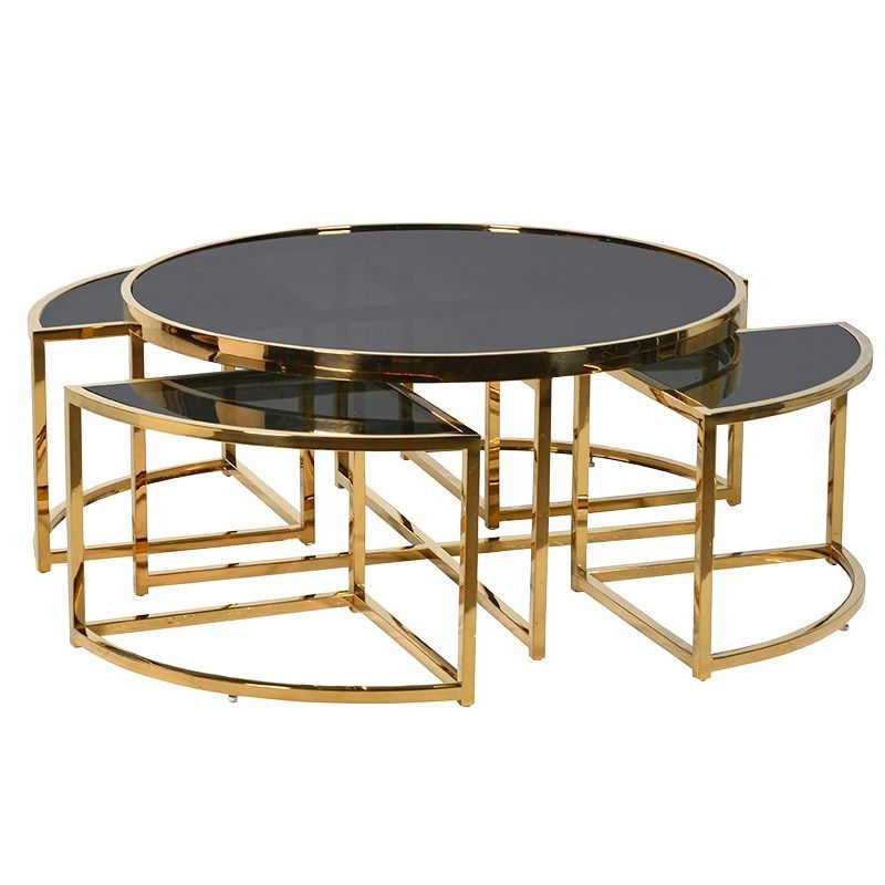 Gold And Black Coffee Table Furniture La Maison Chic Luxury