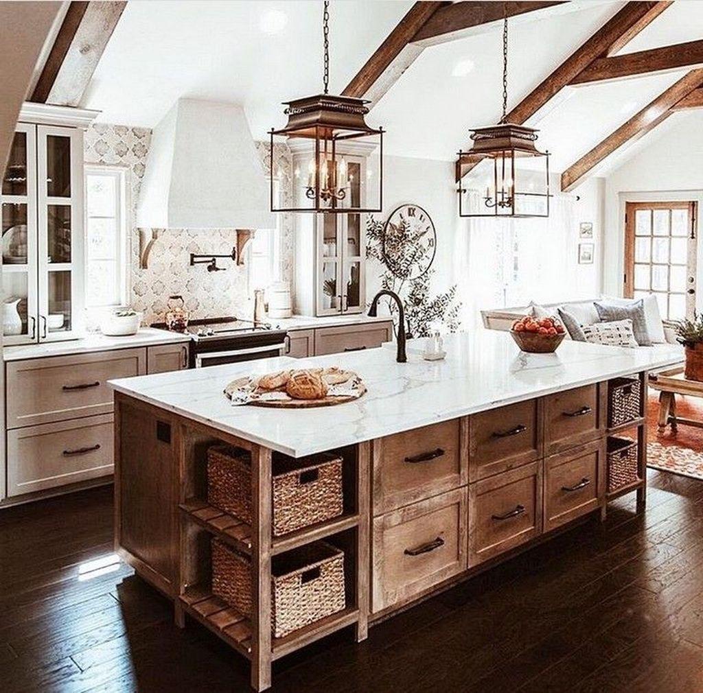 39 Most Amazing Rustic Farmhouse Kitchen Design Country Kitchen