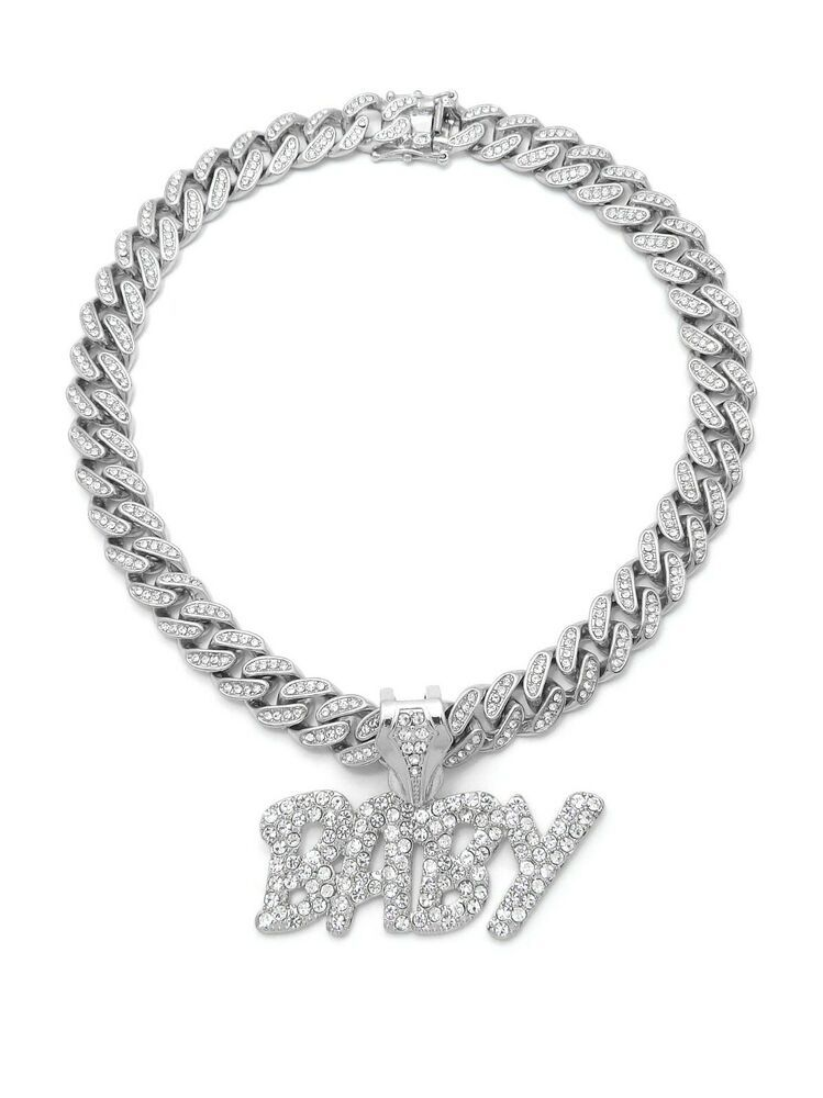 Details About Lil Baby Pendant Lab Diamond Cuban Link Chain Necklace Silver Hip Hop Rapper Cuban Link Chain Necklaces Gold Chain Design Silver Chain Necklace