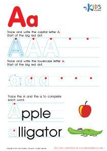 ABC Alphabet Worksheets Letter A Tracing PDF