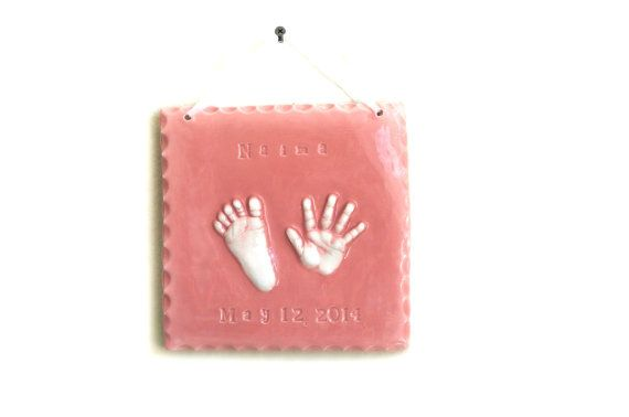 3 rectangle ceramic baby plaque custom baby and child keepsake ceramic hand and footprint plaque keepsake for by dprintsclayful wwwclayfulimpressionsspot negle Gallery