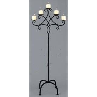 Favorite Wrought Iron Candle Holder Floor Standing | Jonathan Steele KU66