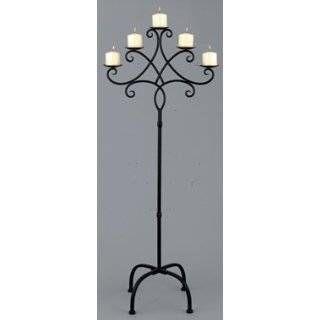 Brand-new Wrought Iron Candle Holder Floor Standing | Jonathan Steele VM24