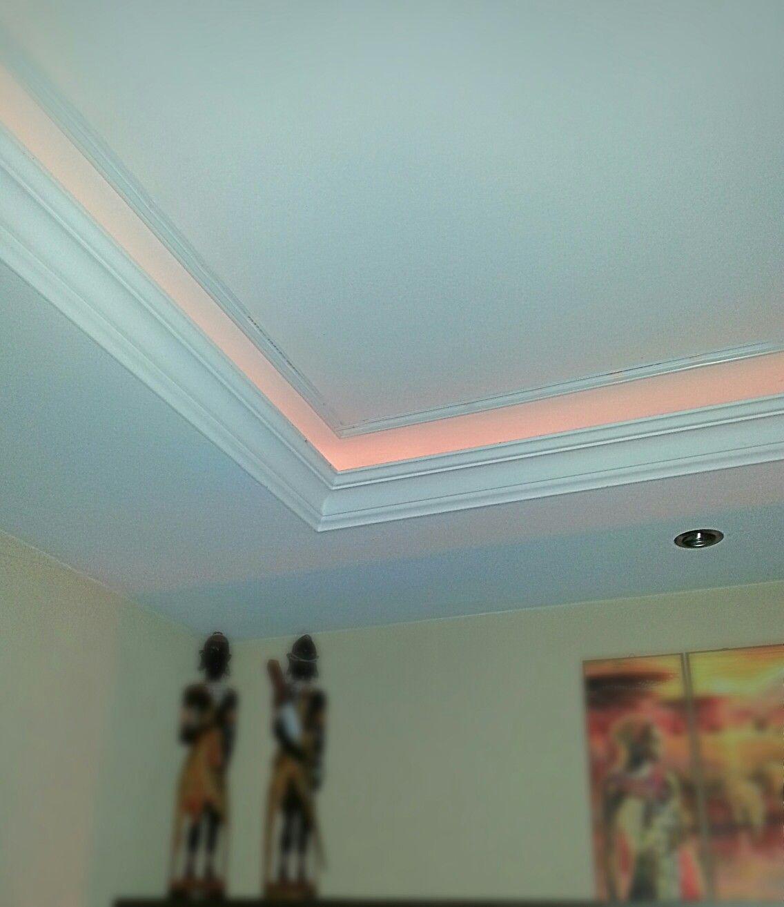 Decke Mit Stuck Und Indirekter Beleuchtung Wohn Esszimmer Decke Indirekte Beleuchtung