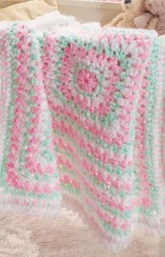 Free pattern  Fast  Baby's First Blanket