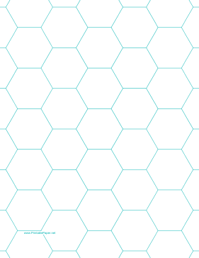 Printables Hexagon Graph Paper With Inch Spacing On Letter