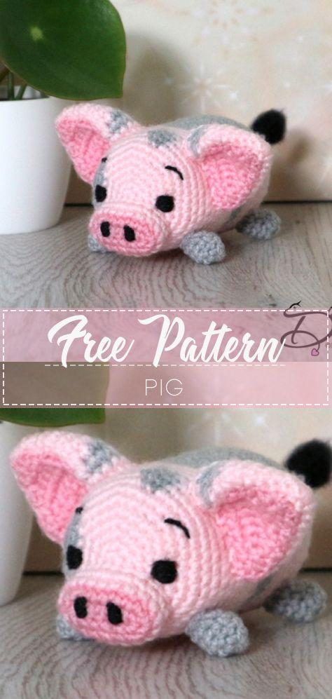 Amigurumi sweet pig free pattern | Amiguroom Toys | 997x474