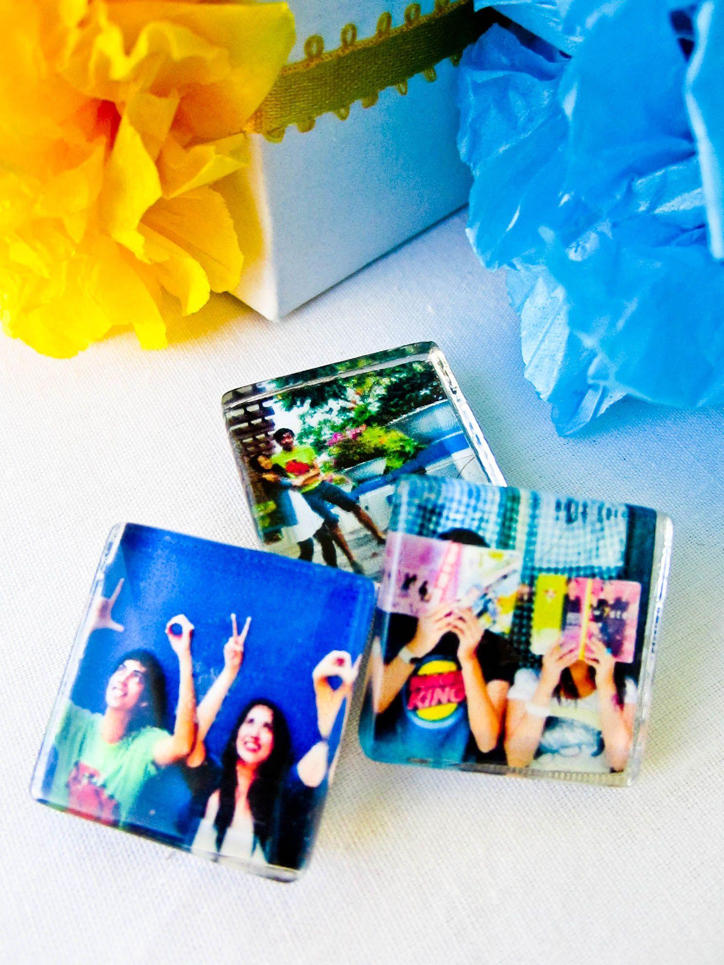 Glass tile fridge magnet favors, cheap wedding ideas, wedding on a ...