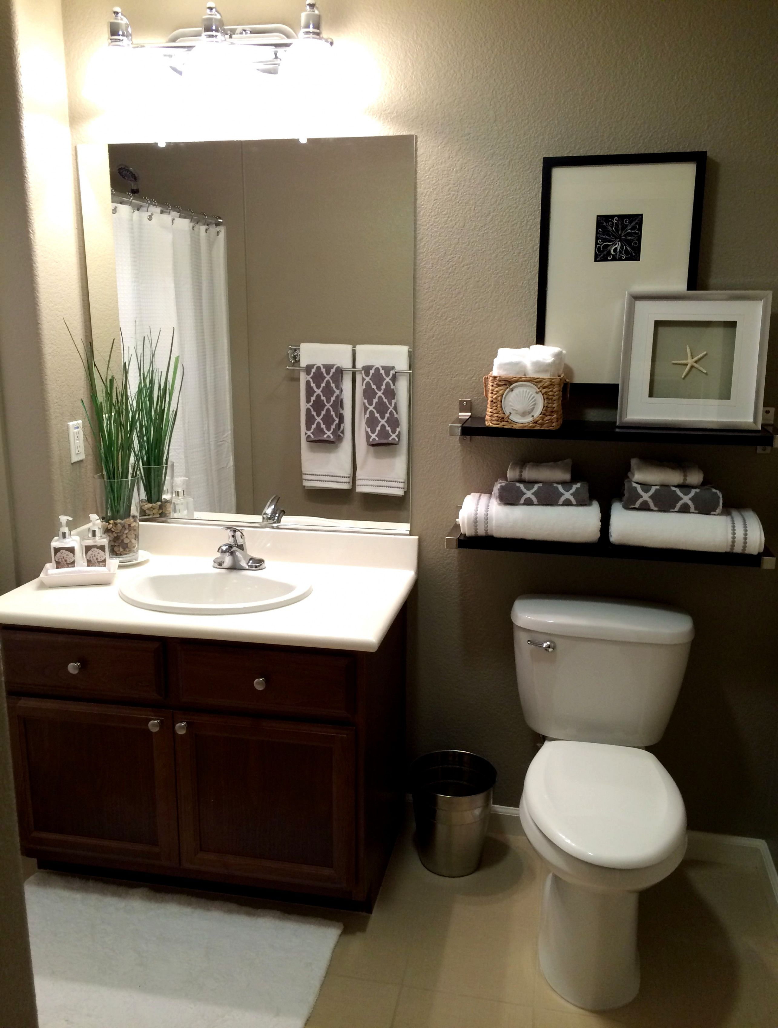 """guest bath  paint color is """"taupe tone""""sherwin"""