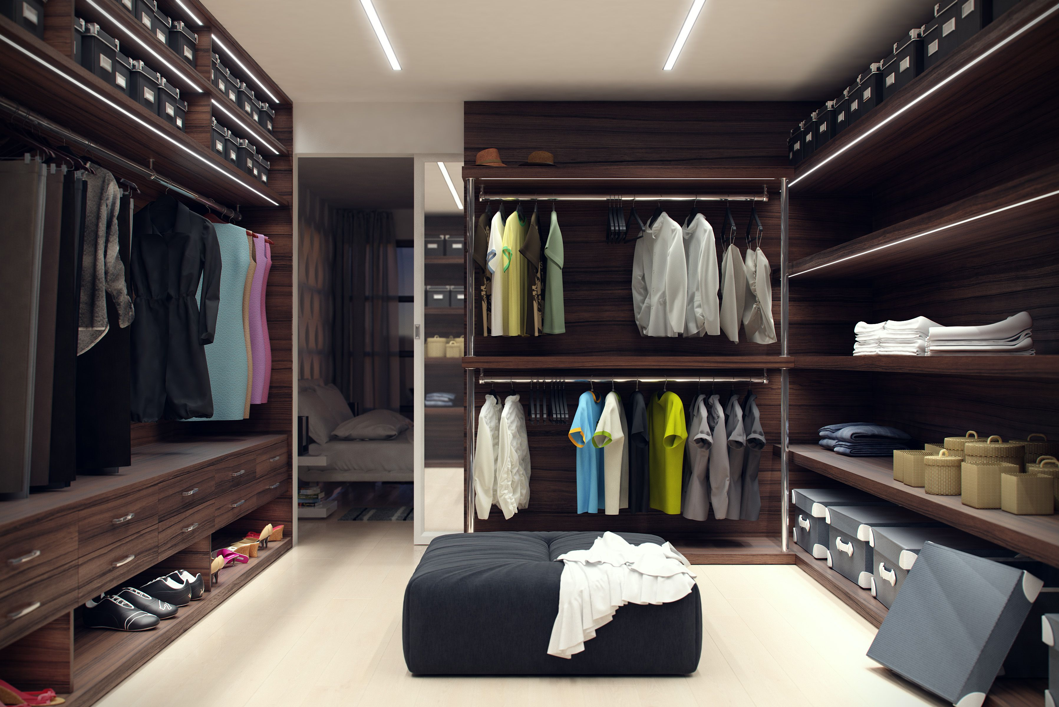 lumines led closet organization