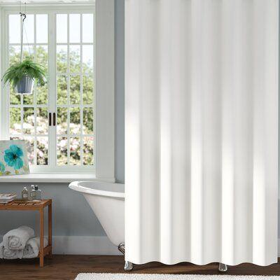 Symple Stuff Pettry 10 Gauge Mildew Resistant Vinyl Single Shower Curtain Liner Size 72 W X 72 D Color Frosty Clear Vinyl Shower Curtains Striped Shower Curtains Curtains
