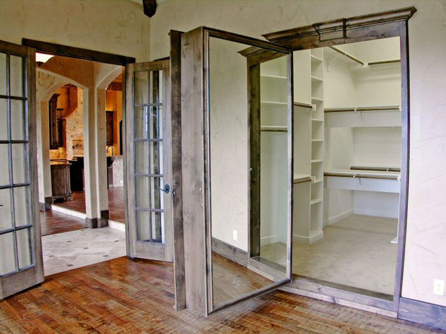 secret room for closets in the master love the full length mirror on the back of the door. Black Bedroom Furniture Sets. Home Design Ideas