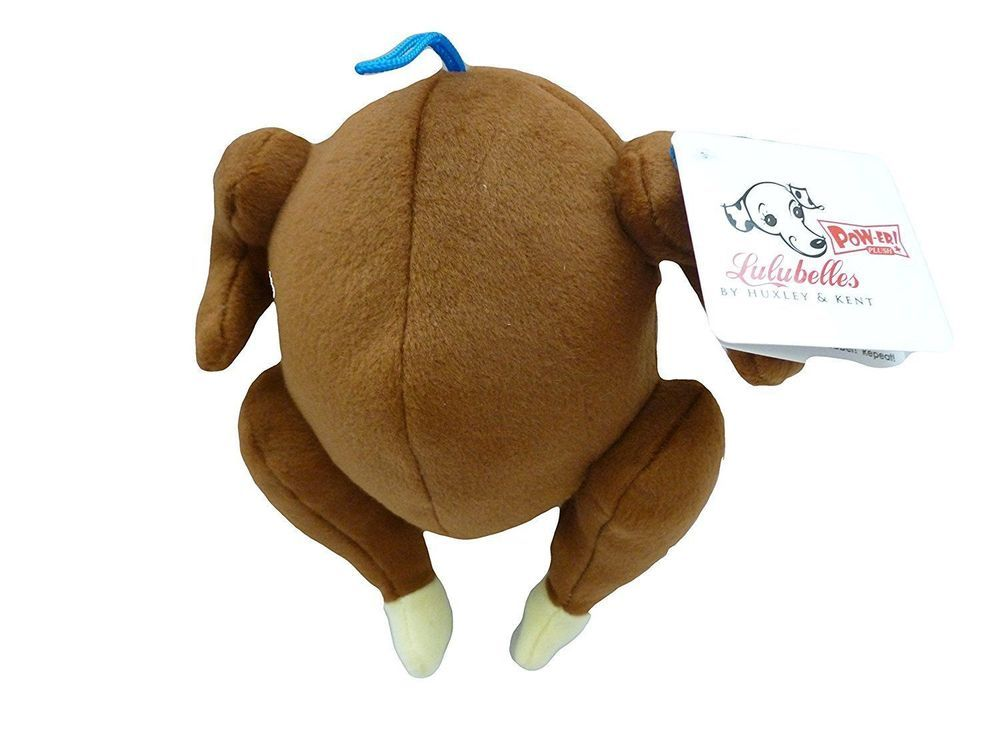 Details About Lulubelles Power Plush Turkey Dog Toy Small Dog