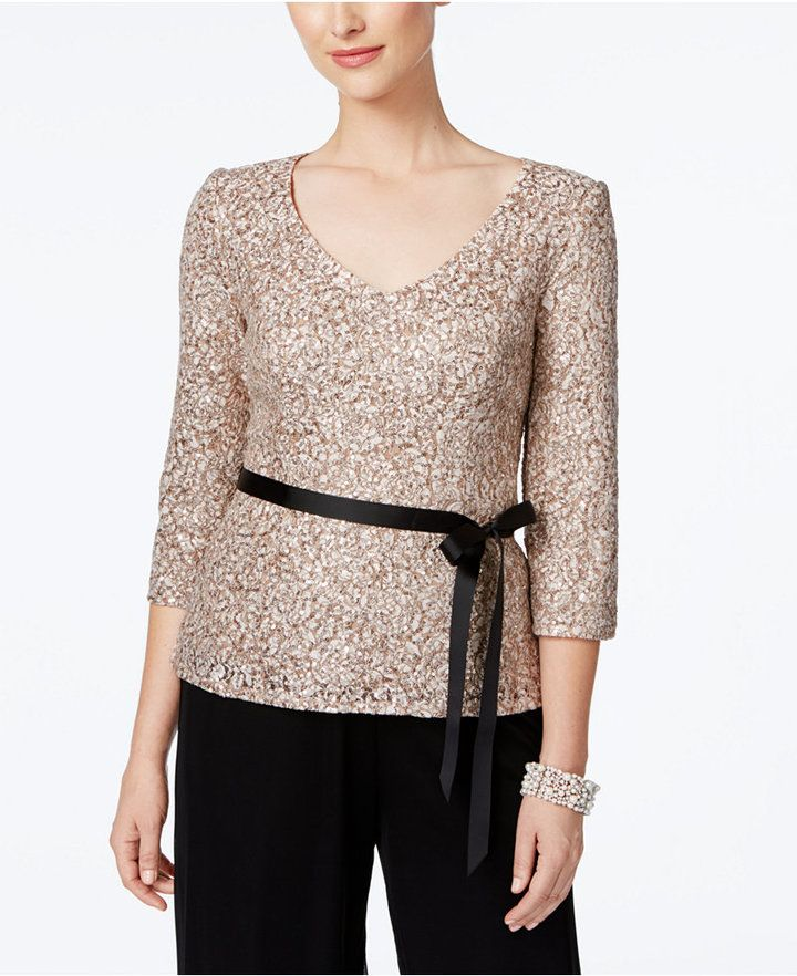 Alex Evenings Lace Blouse  d81f65787