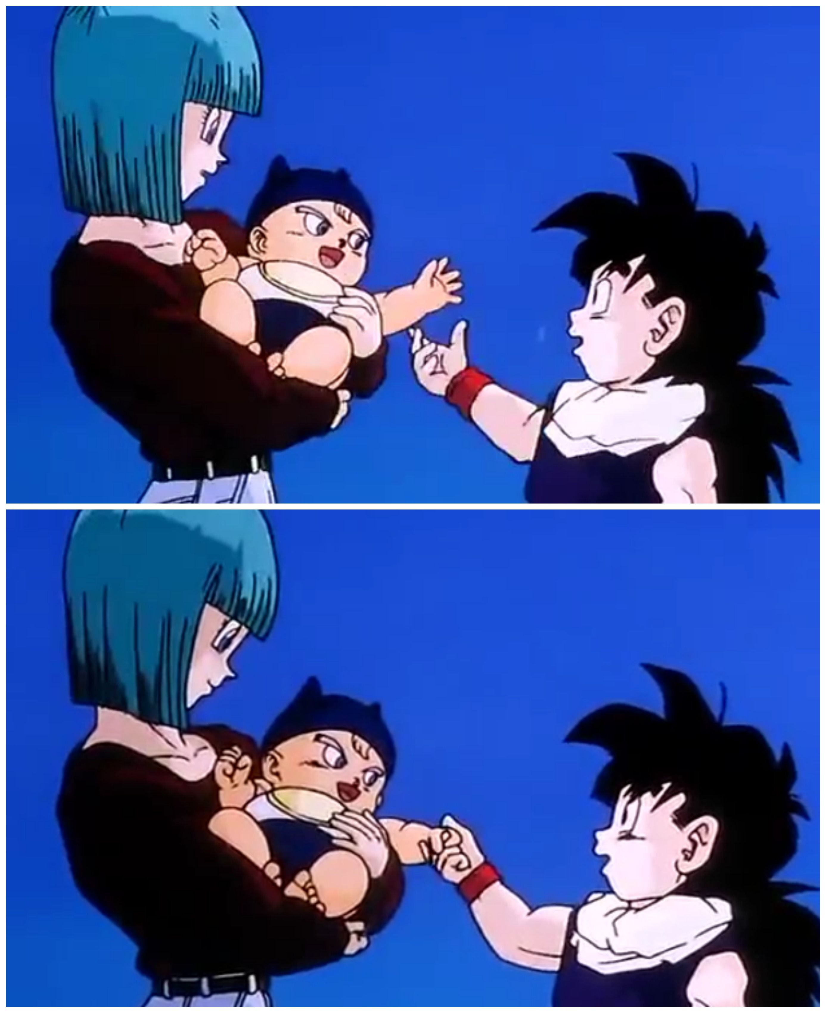 Baby Trunks And Gohan :D