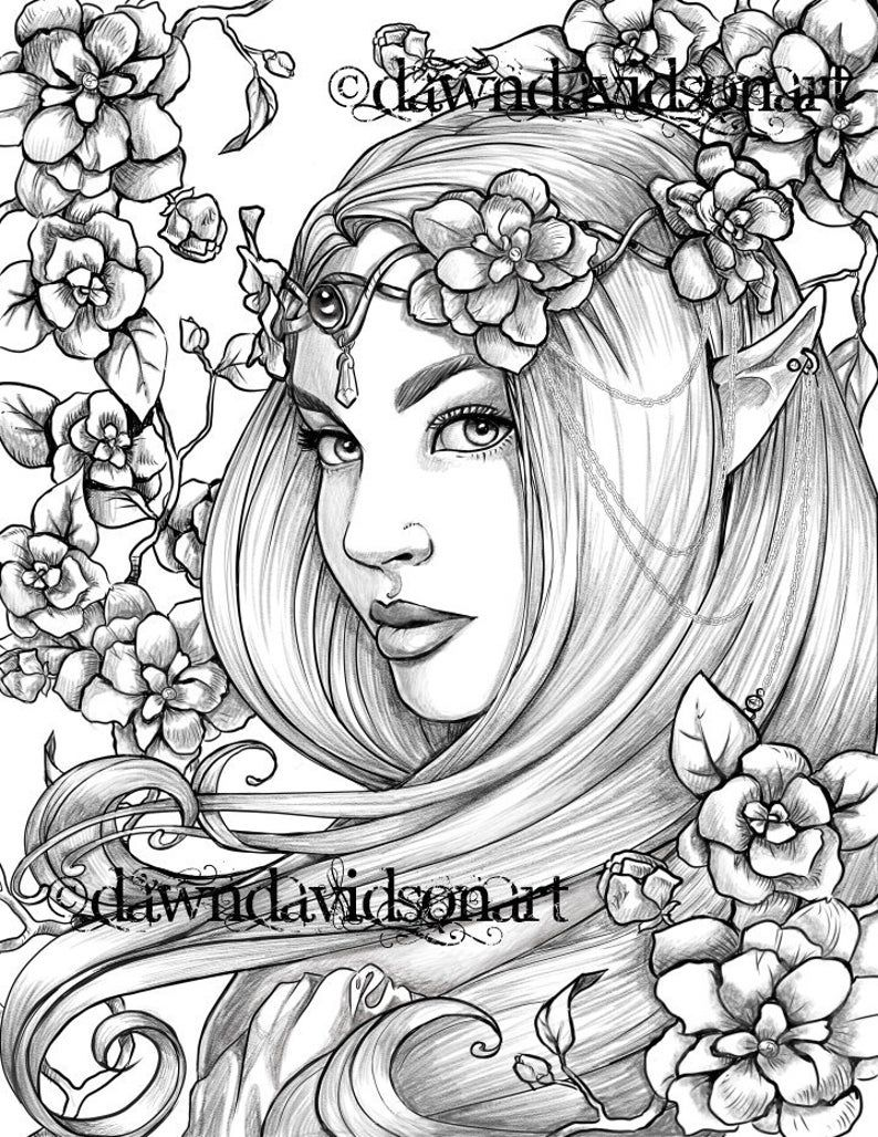 Freckles The Fairy Coloring Page Printable Colouring For Etsy Fairy Coloring Pages Grayscale Coloring Fairy Coloring [ 1028 x 794 Pixel ]