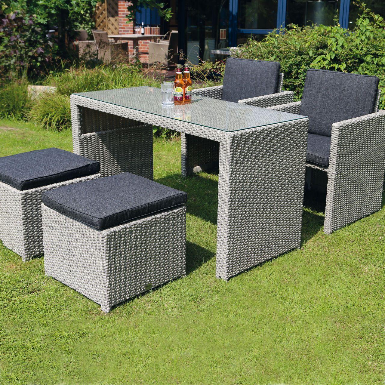 Platzsparendes Wetterfestes Gartenmöbel Set Passt Auf Den Kleinsten