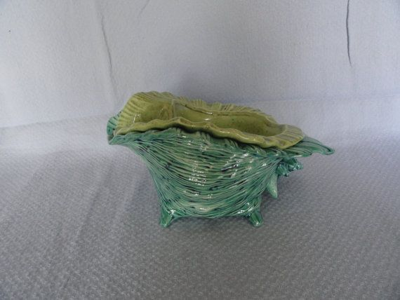 RESERVED EBAY LISTING Conk Shell African Violet Pot by TnCCeramics, $15.00