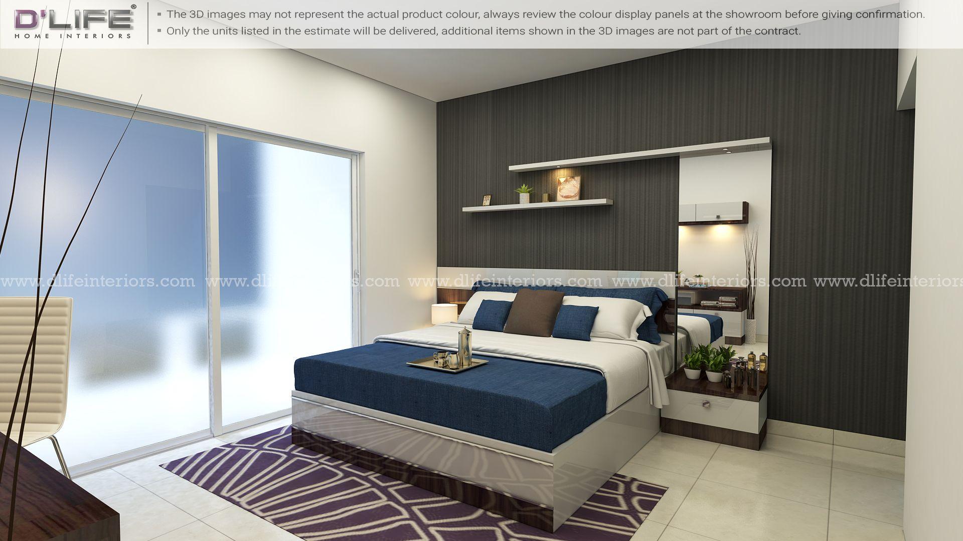 bedroom interior design furnishing kerala   master bedroom