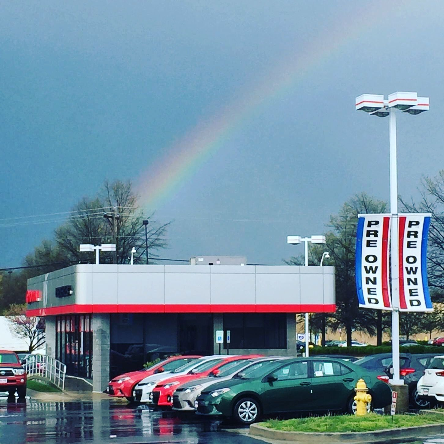 Rainbow over Waldorf Toyota after the storm rainbow toyota