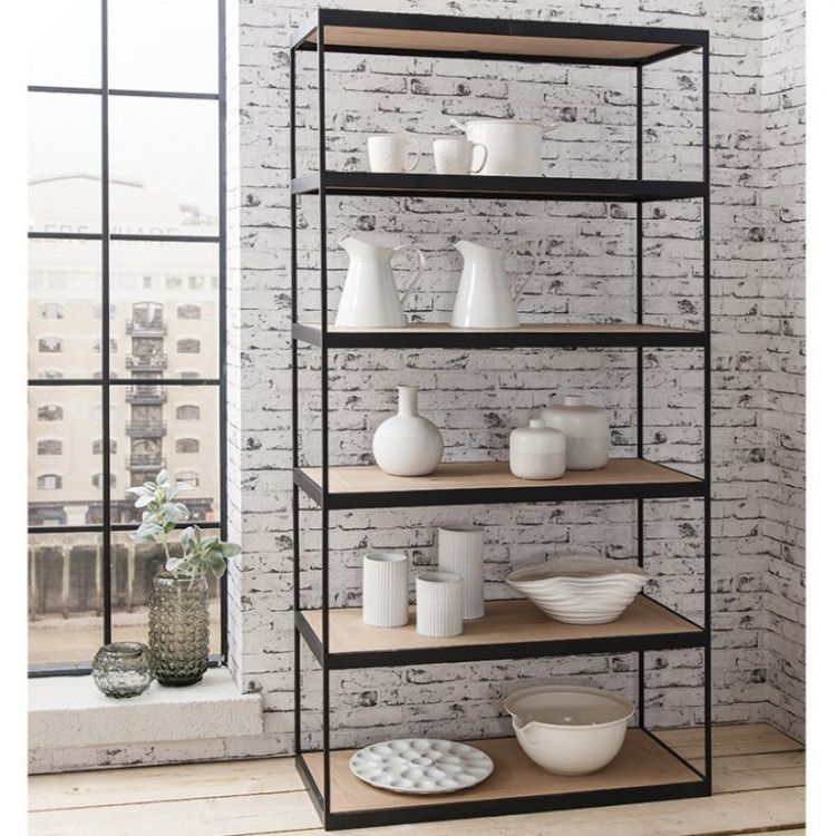 Brunel Tall Display Cabinet with an Industrial Look – Allissias ...