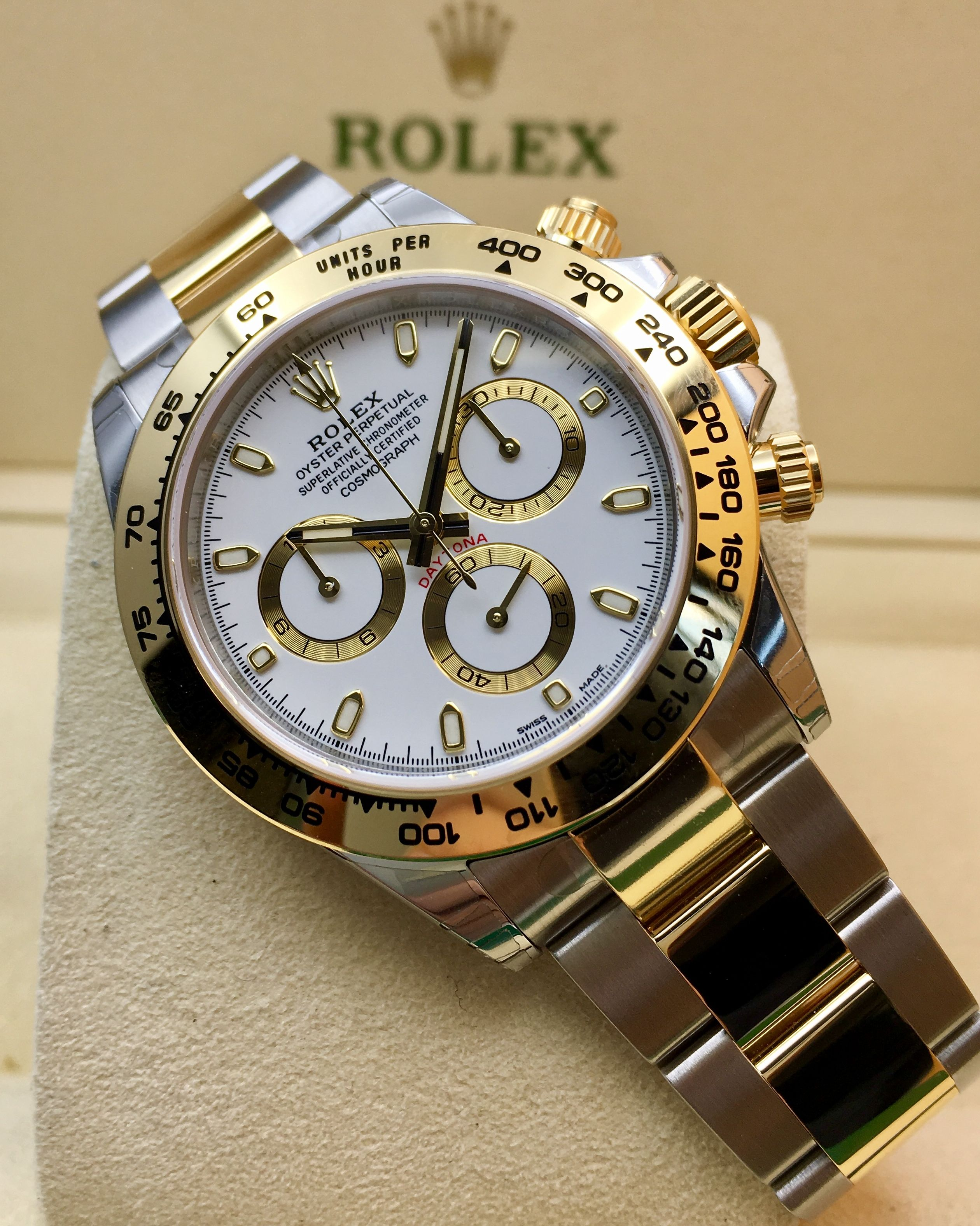 Rolex Daytona Steel Gold White Dial 116503 Timekeepers Rolex