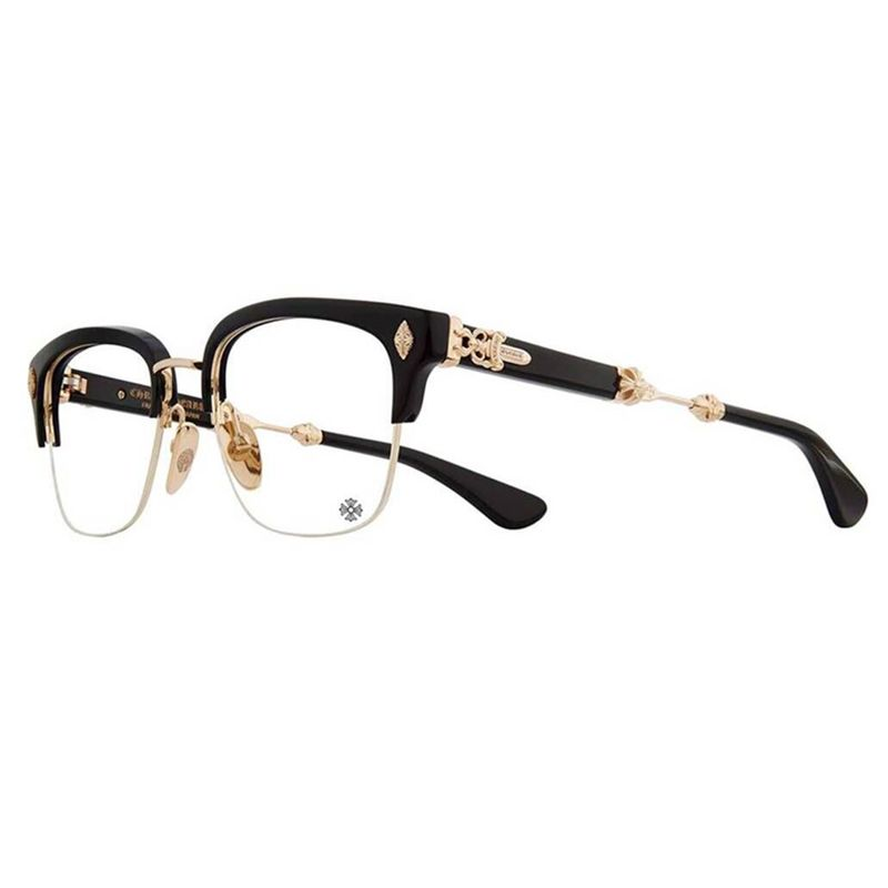 2df7ba251be43 CHROME HEARTS Glasses EVAGILIST D T Goad plated 53-19-146 Eyeglasses  HAND-MADE