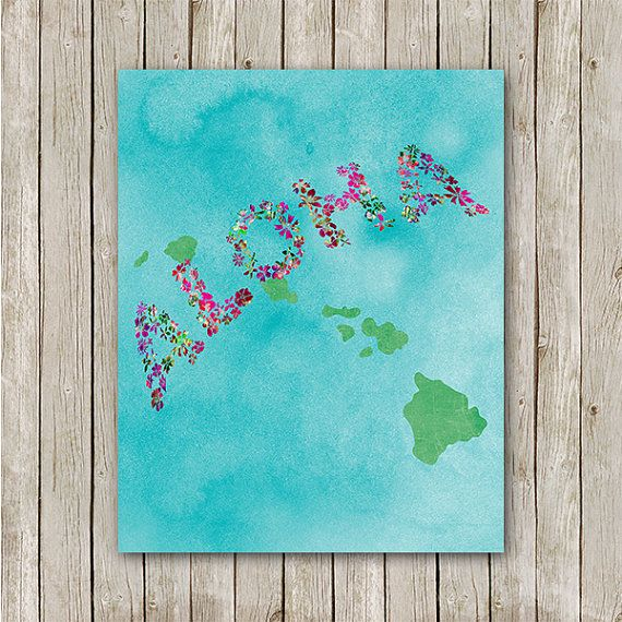 Aloha Print 8x10 Instant Download Hawaiian by MossAndTwigPrints, $5.00