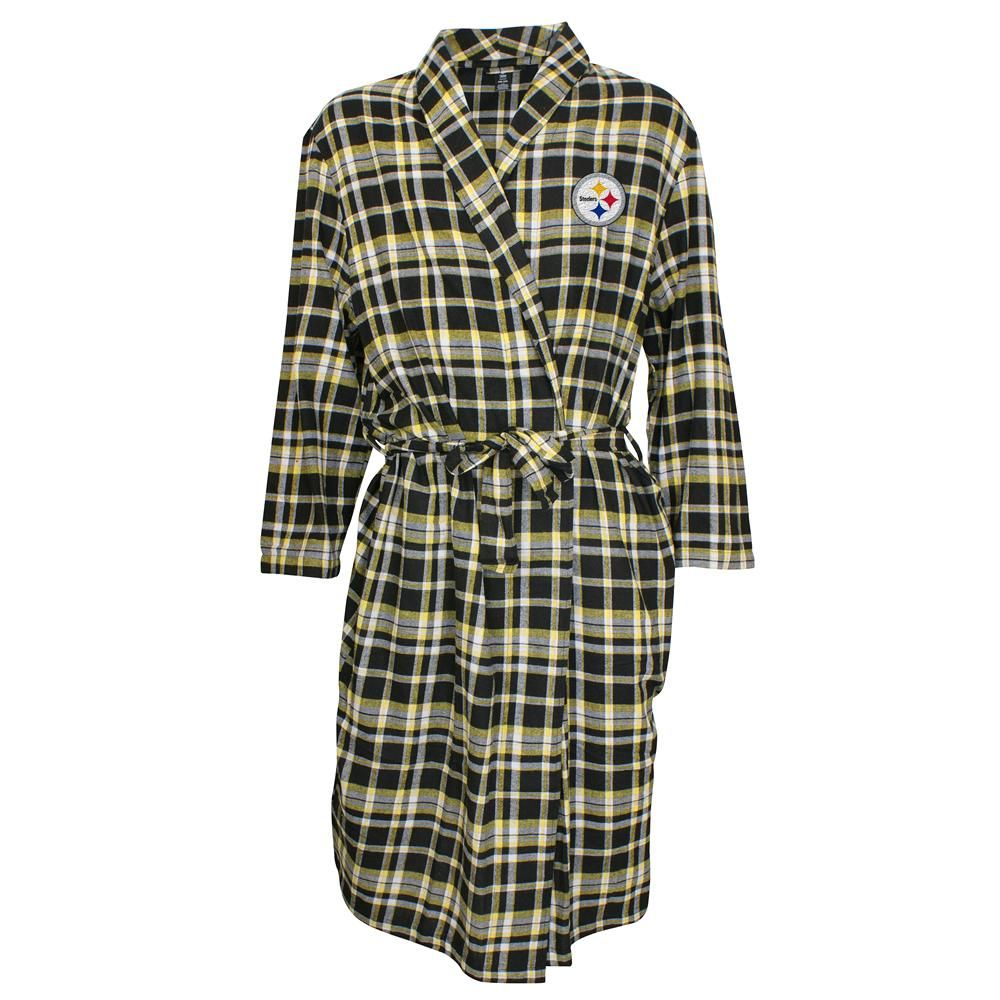 4c233a3185 Pittsburgh steelers plaid mens flannel bathrobe flannel jpg 1000x1000 Steelers  robes for men