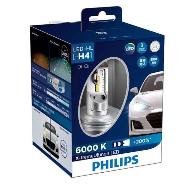 Philips X Treme Ultinon H4 Led Headlight Bulb Led Hl 6000k 200 Advanced Brighter Light Led Lights Led Headlights Led