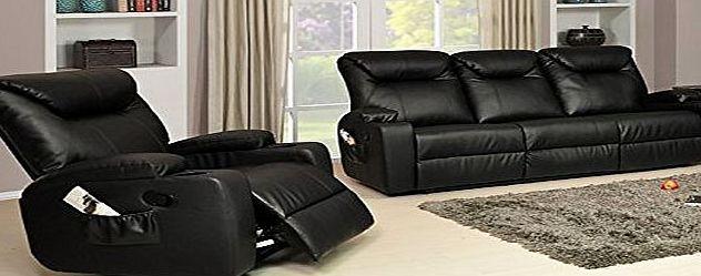 Lovesofas New Luxury Cinema Lazy Boy 3 1 Bonded Leather Recliner Sofa Suite Black No Description Bar Sofa Suites Reclining Sofa Leather Recliner