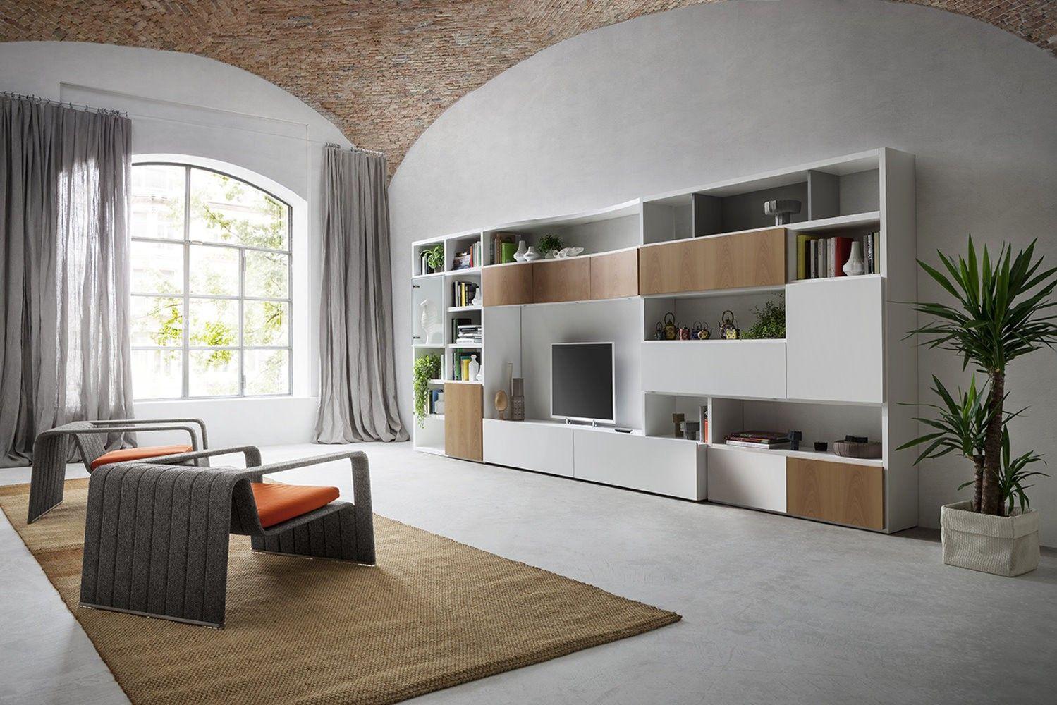 Parete attrezzata, soggiorno, living, livingroom, mobile ...