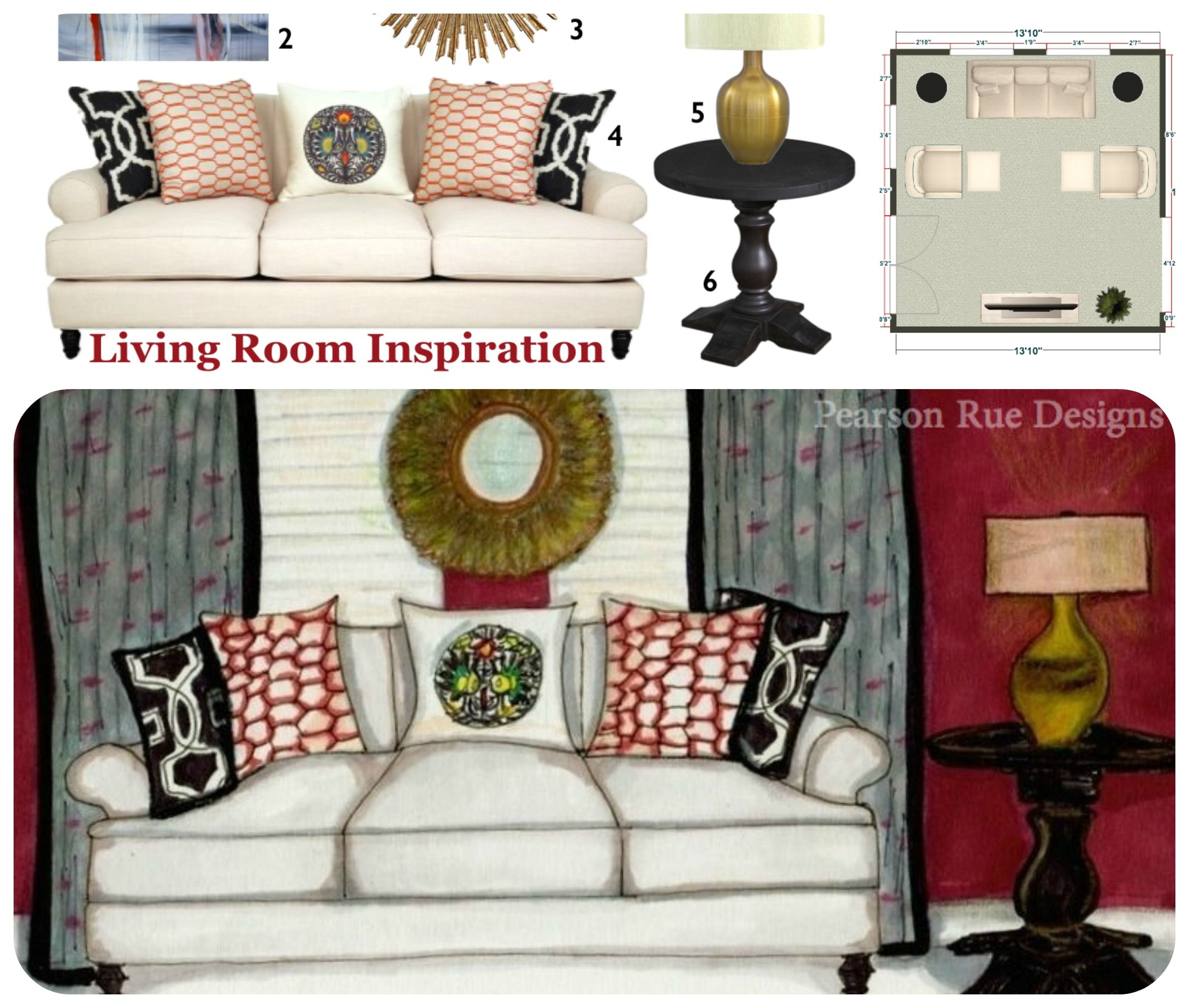 Beau Gallery Furniture Contest/Inspiration Board With Floor Plan And Sources  {skiptomyrue.com}