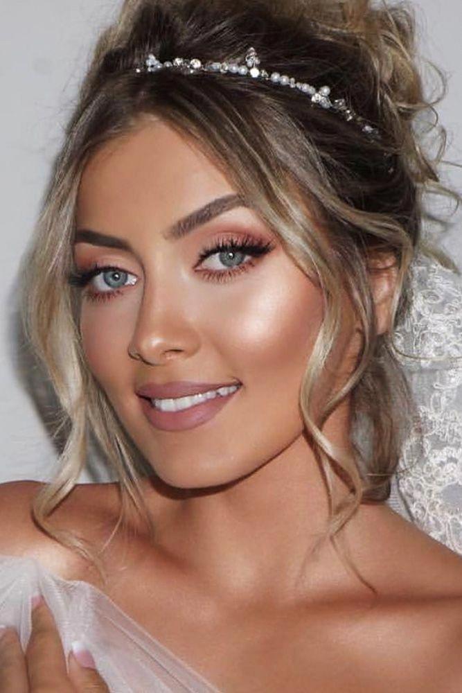 #Organzaweddingdresses | Bridal makeup for blondes, Bridal ...
